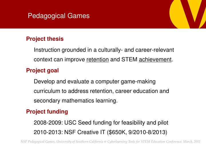 Pedagogical Games