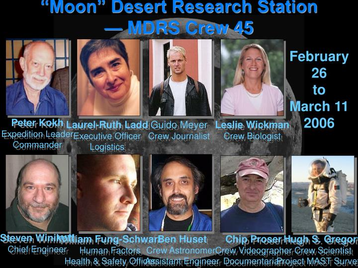 """Moon"" Desert Research Station — MDRS Crew 45"