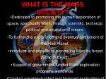 what is the mars society