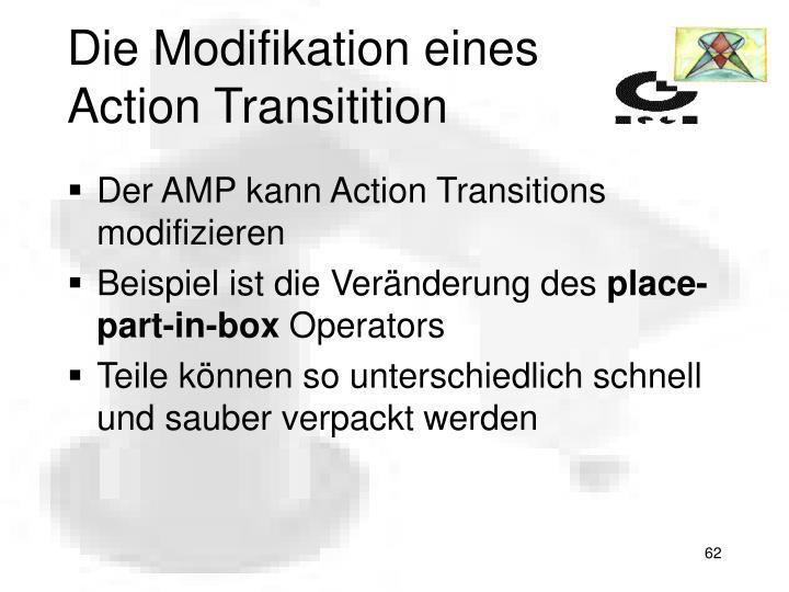 Die Modifikation eines Action Transitition