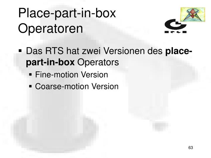 Place-part-in-box Operatoren