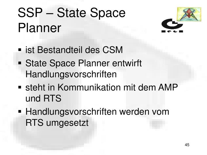 SSP – State Space Planner