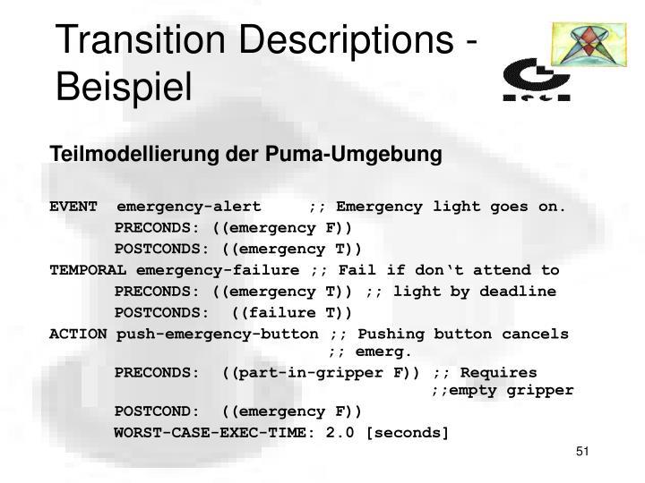 Transition Descriptions - Beispiel