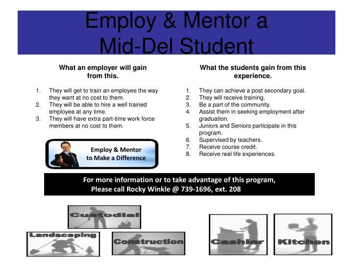Employ & Mentor a