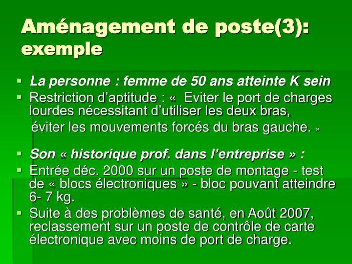 Aménagement de poste(3):