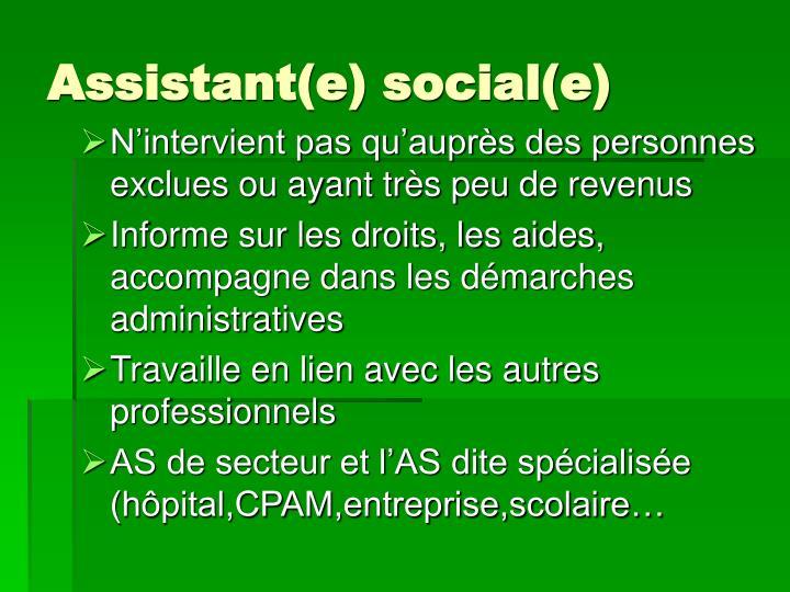 Assistant(e) social(e)