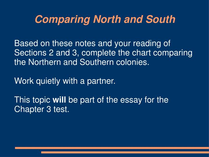 Comparing North and South