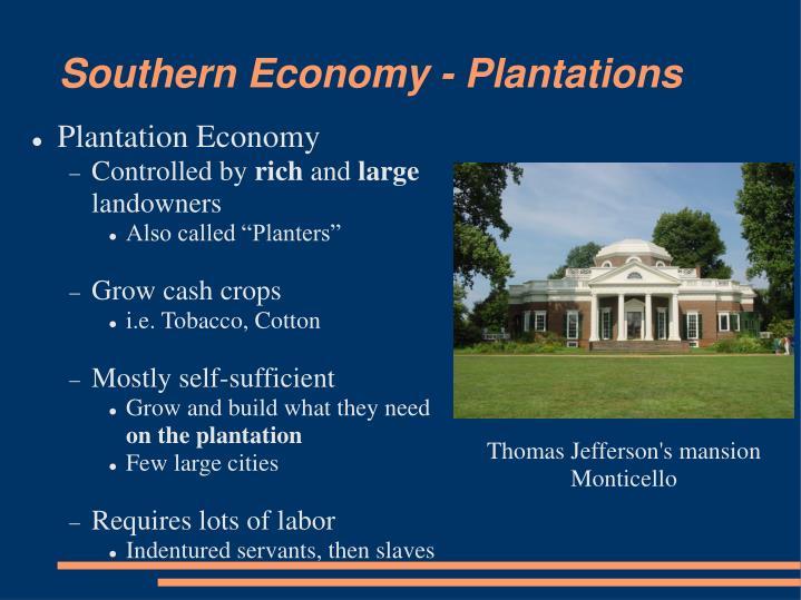 Southern Economy - Plantations