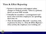 time effort reporting