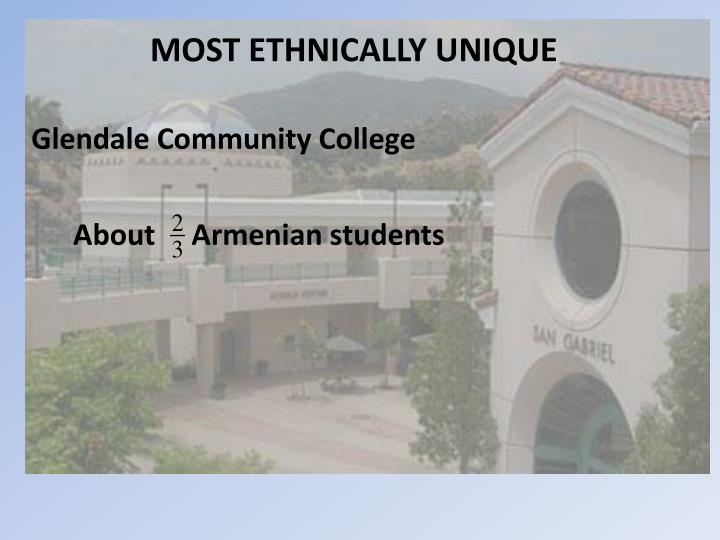 MOST ETHNICALLY UNIQUE