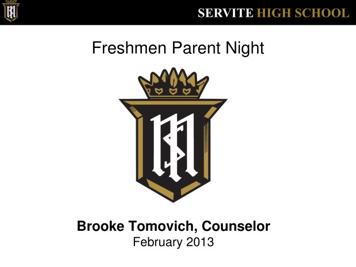 freshmen parent night
