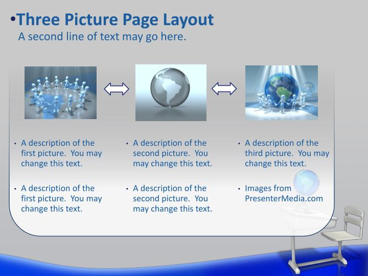 Three Picture Page Layout