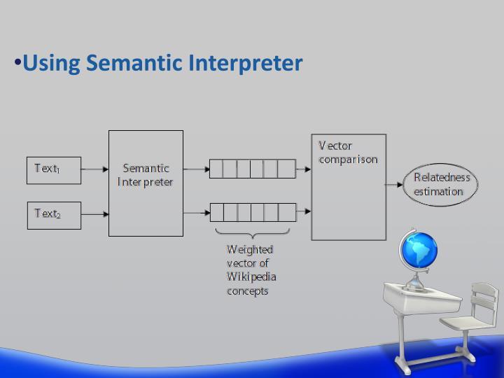 Using Semantic Interpreter