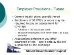 employer provisions future