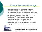 expand access coverage