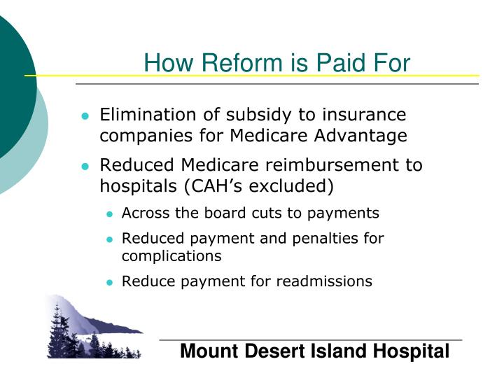 How Reform is Paid For