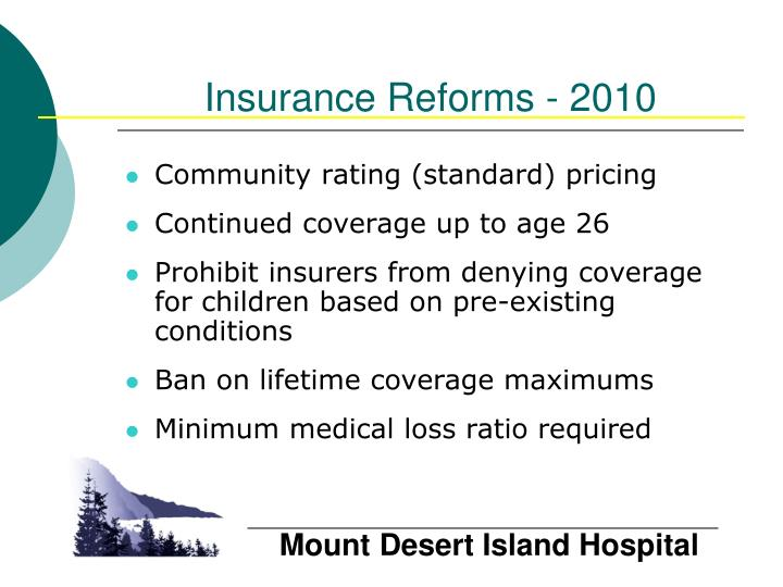 Insurance Reforms - 2010