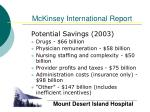 mckinsey international report