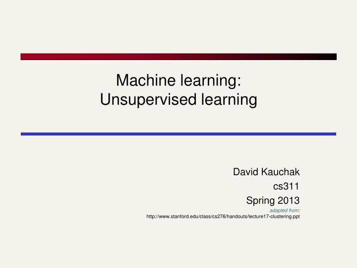 Machine learning: