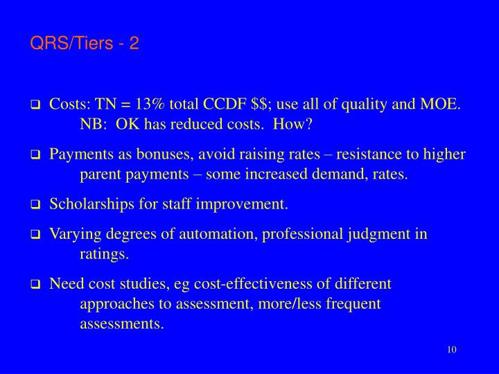 QRS/Tiers - 2