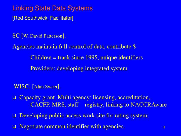 Linking State Data Systems