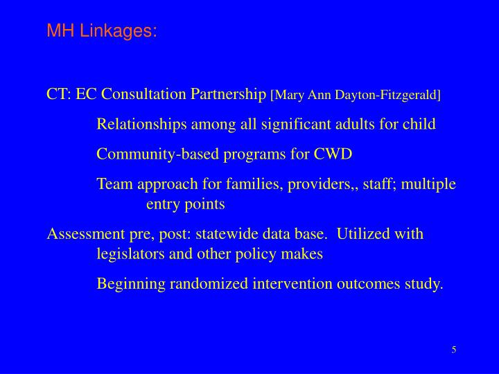MH Linkages:
