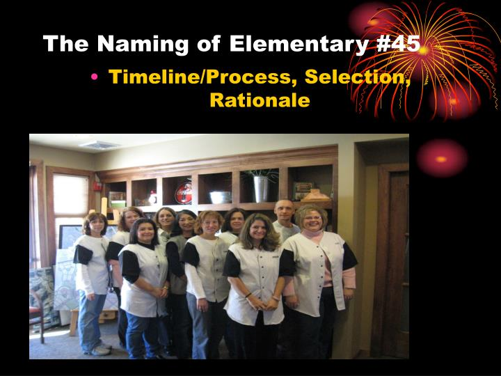 The naming of elementary 45