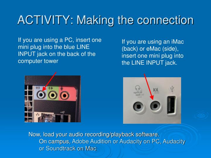 ACTIVITY: Making the connection