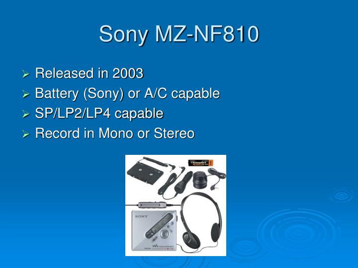 Sony MZ-NF810