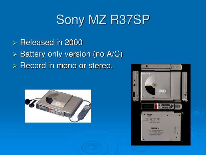 Sony MZ R37SP