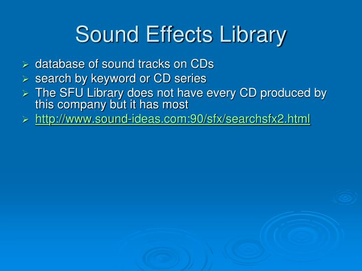 Sound Effects Library