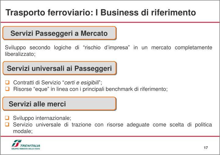 Trasporto ferroviario: I Business di riferimento