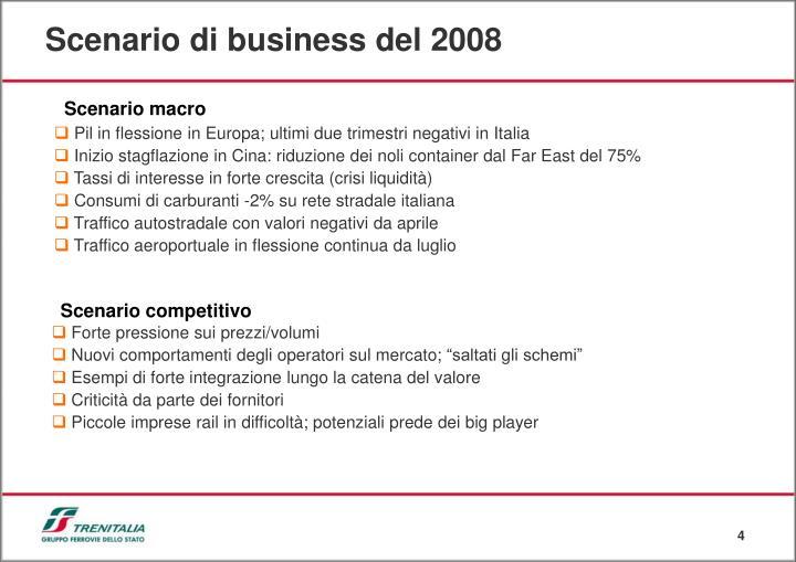 Scenario di business del 2008