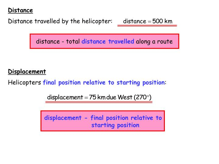 distance - total