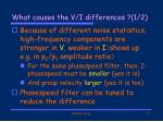 what causes the v i differences 1 2