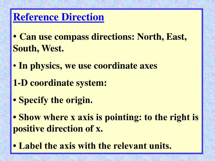 Reference Direction
