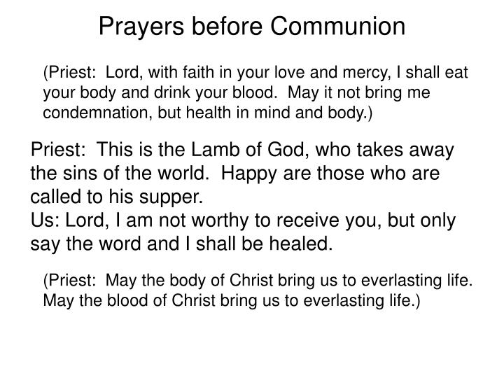 Prayers before Communion