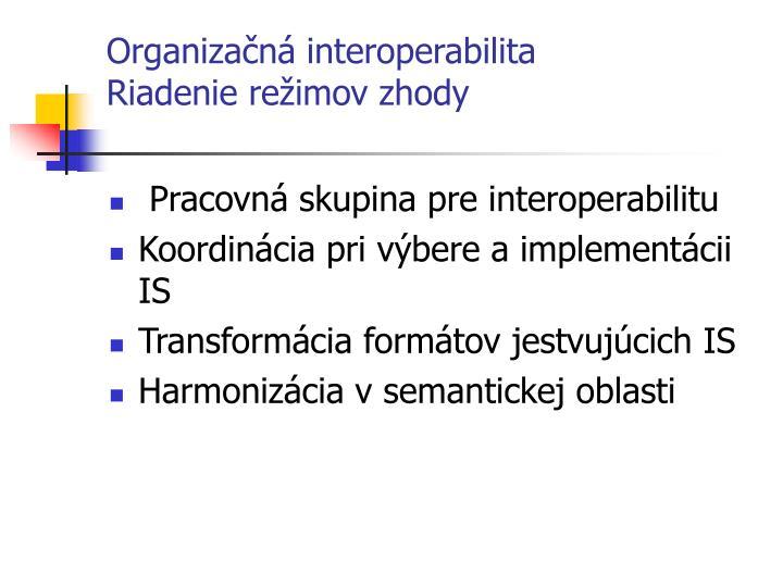 Organizačná interoperabilita