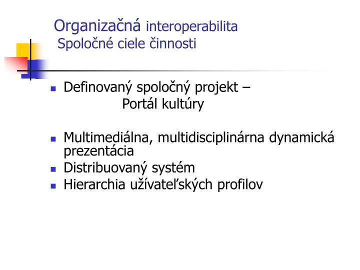 Organizačná