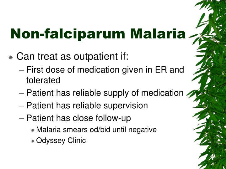 Non-falciparum Malaria