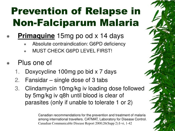 Prevention of Relapse in