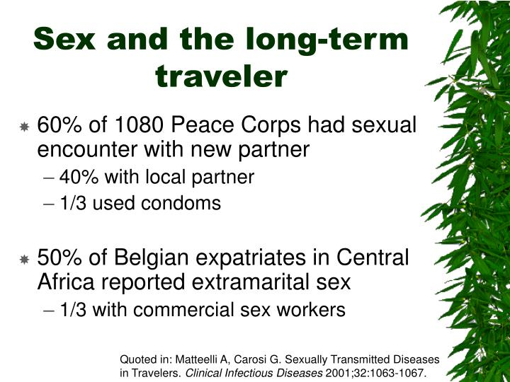 Sex and the long-term traveler