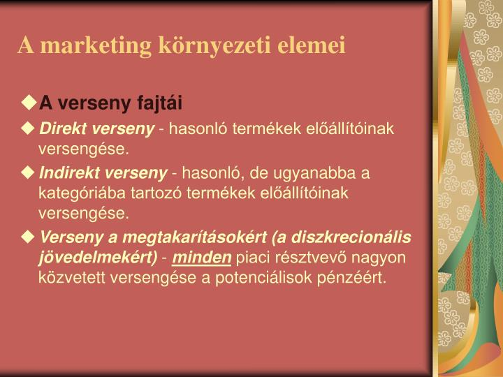 A marketing k rnyezeti elemei1