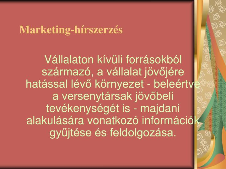 Marketing-hírszerzés