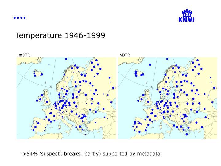Temperature 1946-1999