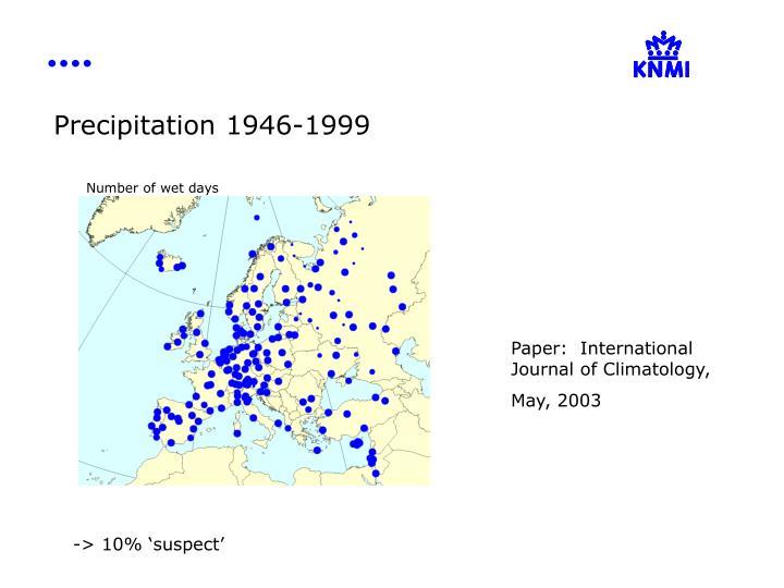Precipitation 1946-1999