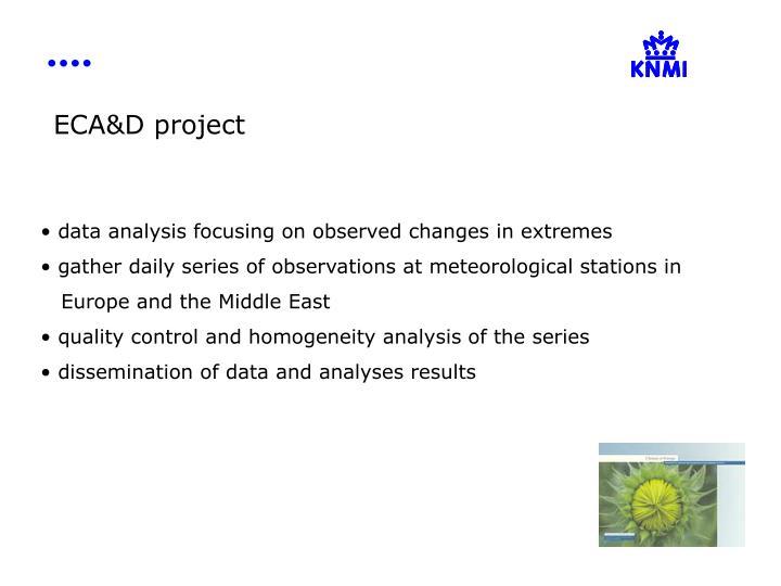 ECA&D project