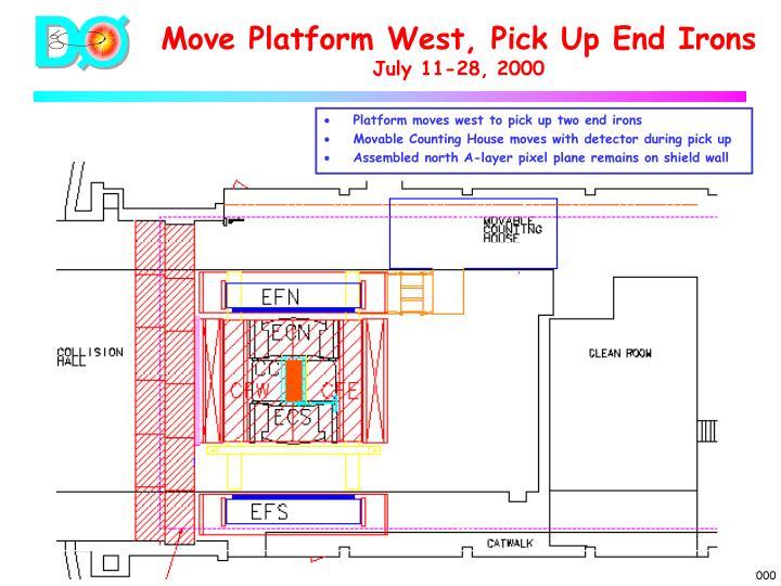 Move Platform West, Pick Up End Irons