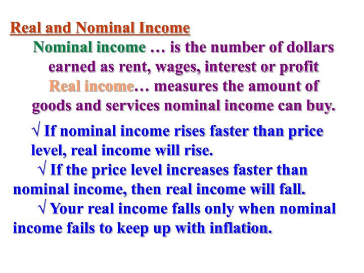 Real and Nominal Income