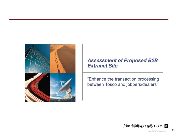 Assessment of Proposed B2B Extranet Site